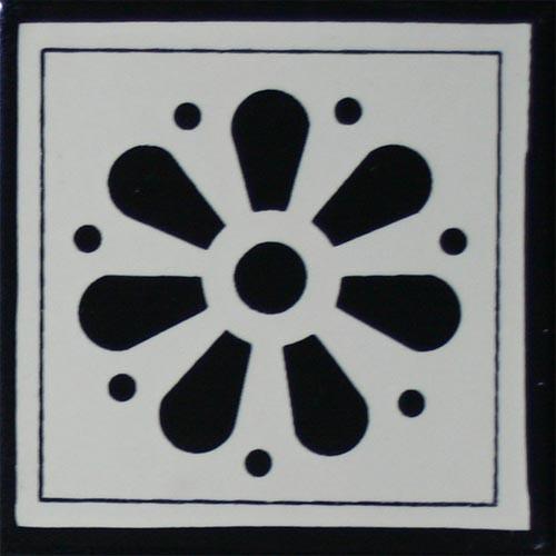 Hacienda Design No. 73 black (4 x 4) (6 x 6) (8 x 8) (12 x 12)