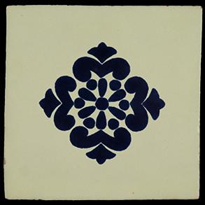 Hand Painted Tiles Casa Style Anita Azul con Marco 3003