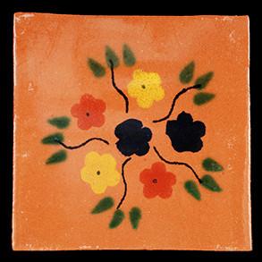 Hand Painted Tiles Casa Bouquet Natural