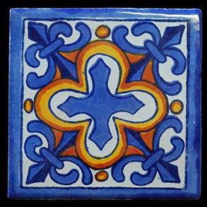 Hand Painted Tiles Casa Flor De Liz 3216