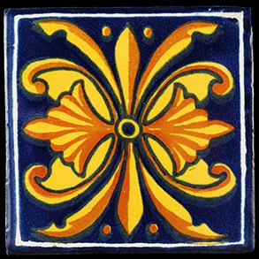 Hand Painted Tiles Casa Flor Nacional