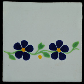 Hand Painted Tiles Casa Guia Violets