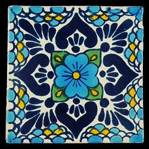 Hand Painted Tiles Casa Lluvia Turquesa Az