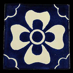 Hand Painted Tiles Casa Mono Azul