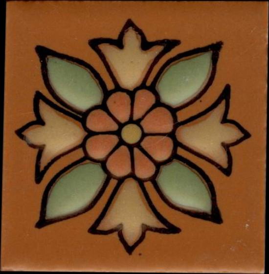 Santa Rosa Terra Cotta pattern B, 2 x 2