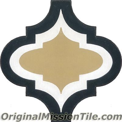Original Mission Tile Cement Colonial Frame 02 - 8 x 8
