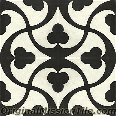 Original Mission Tile Cement Contemporary Trebol 02 - 8 x 8