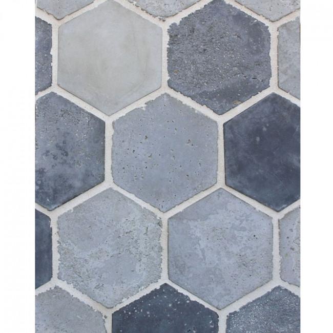 Arto 6x6 Hexagon Artillo Signature Concrete Tile - Portland Vintage