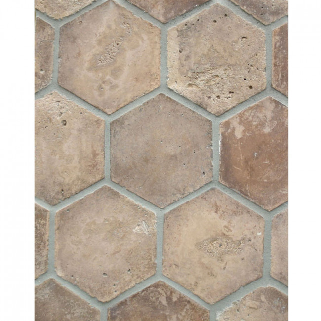Arto 6x6 Hexagon Artillo Classic Concrete Tile - Cotto Dark Vintage