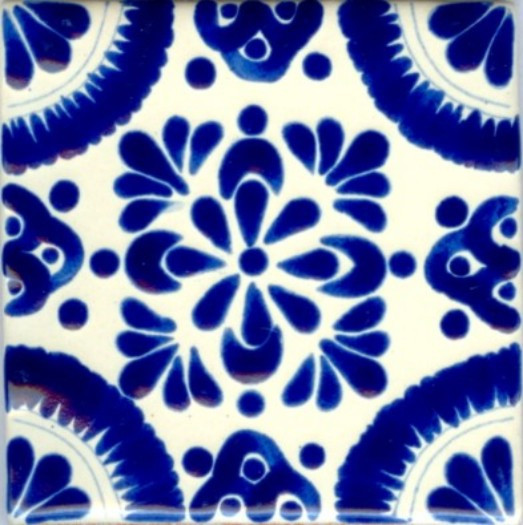 Hand Painted Pool Tiles Poblano Porcelain Designs Classic - 4 inch mexican tile
