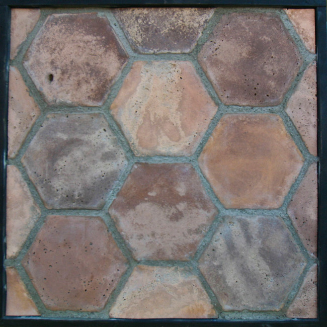 & Arto 8x8 Hexagon Artillo Signature Concrete Tile - Normandy Cream