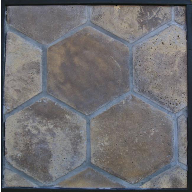Arto 11x11 Colonial Hexagon Artillo Classic Concrete Tile - Tuscan Mustard Vintage & 11x11 Colonial Hexagon Artillo Classic Concrete Tile - Tuscan ...