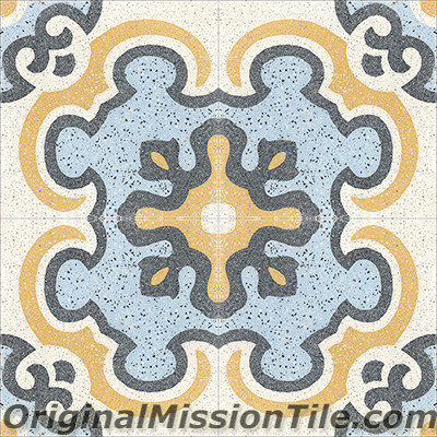 Original Mission Tile Cement Terrazzo Toulouse - 8 x 8