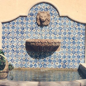 Wall Fountain Lion Head
