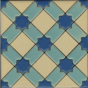 Anacapa, Aqua (3 3-4 x 3 3-4) (5 3-4 x 5 3-4)