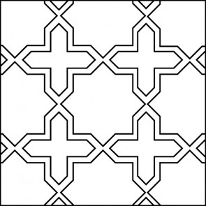 Arto Custom Artillo Arabesque 2c Concrete Tile