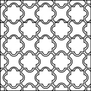 Arto Custom Artillo Arabesque 8b Concrete Tile