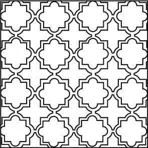 Arto Custom Artillo Arabesque 8c Concrete Tile