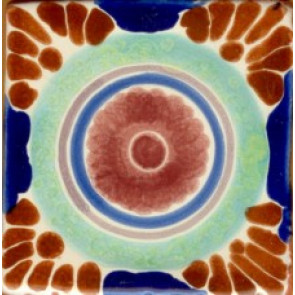Pool Tile - Porcelain Baroque Designs 4