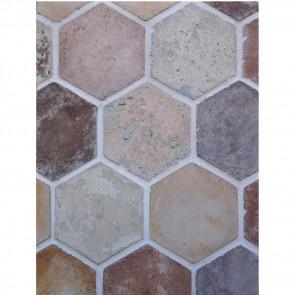 Arto 6x6 Hexagon Artillo Signature Concrete Tile - Creme Fraiche Vintage
