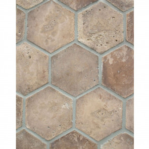 Arto 6x6 Hexagon Artillo Classic Concrete Tile - Cotto Dark Vintage