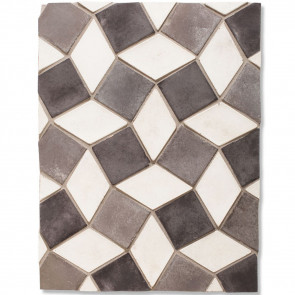 Arto 3x3 3x5 Mini Diamond Signature Concrete Tile - Montage Gray
