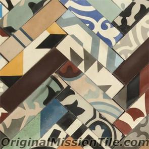 Original Mission Tile Cement Patchwork III - 8 x 8