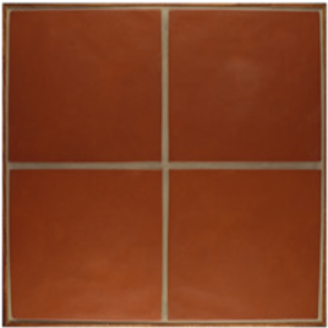 WQ High-Fire Paver 12 x 12  - Terra Cotta Red Regular Edge