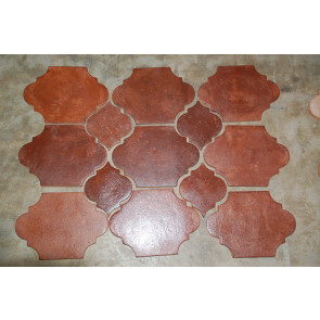 Stained Dark Brown Pavers
