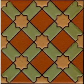 Anacapa Terra Cotta (3 3-4 x 3 3-4) (5 3-4 x 5 3-4)