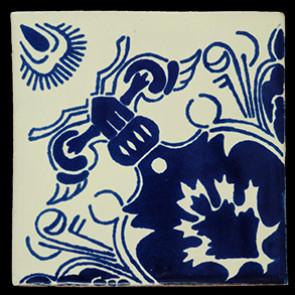 Hand Painted Tiles Casa Escudo Azul