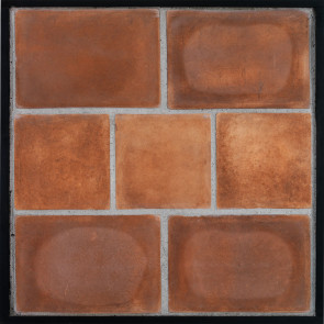 Arto 8x12 8x8 Artillo Classic Concrete Tile - Cotto Dark