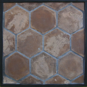Arto 8x8 Hexagon Artillo Classic Concrete Tile - Cotto Dark Vintage
