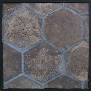 Arto 11x11 Colonial Hexagon Artillo Classic Concrete Tile - Cotto Dark Vintage