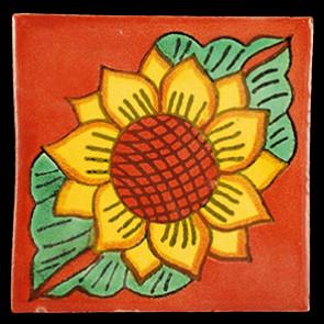 Hand Painted Tiles Casa Girasol 2 Hojas Tc