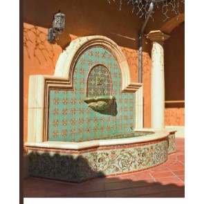 Villa And Mission Wall Fountain MC Talavera