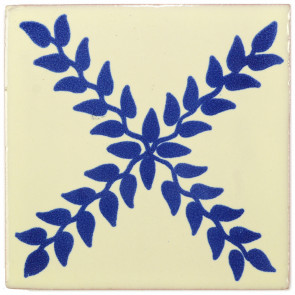 Arbor Blue Decorative Talavera Blanco