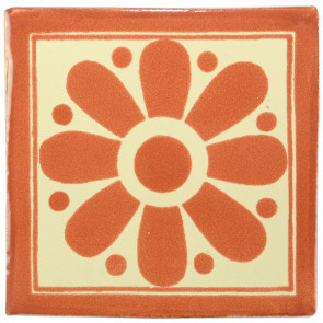 Daisy May Brown Decorative Talavera Blanco