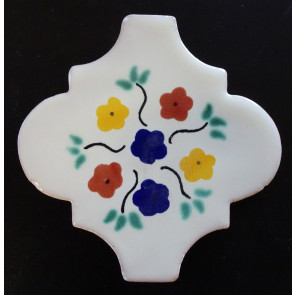 Española Bouquet Decorative Talavera Blanco