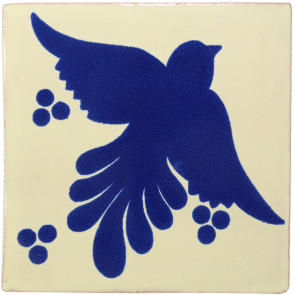 Flight Blue Decorative Talavera Blanco