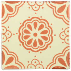 Lace Brown Decorative Talavera Blanco