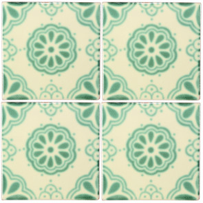 Lace Green Decorative Talavera Blanco