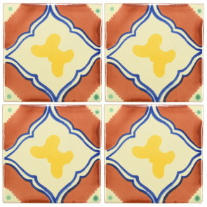 Mariposa Decorative Talavera Blanco