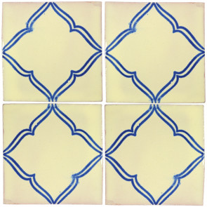 Provincia Blue Decorative Talavera Blanco