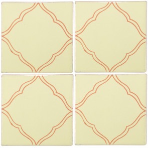Provincia Brown Decorative Talavera Blanco