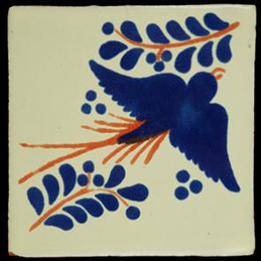 Hand Painted Tiles Casa Paloma Con Ramo Az-Tc