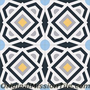 Original Mission Tile Cement Encanto Alegra 05 - 8 x 8