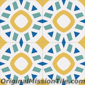Original Mission Tile Cement Encanto Calpysa 18 - 8 x 8