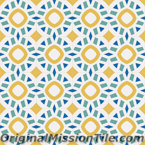 Original Mission Tile Cement Encanto Calpysa 18 - 8 x 8