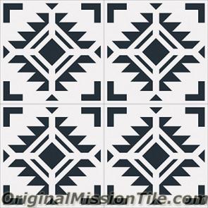 Original Mission Tile Cement Encanto Cean 01 - 8 x 8